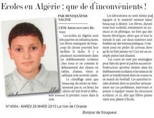 Ecoles en Algérie : que  d'inconvénients ! dans La Voix des élèves bendjaafar-300x231
