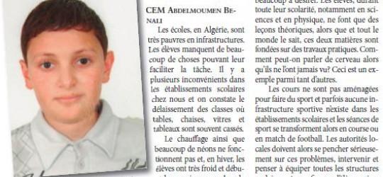 Ecoles en Algérie : que  d'inconvénients !