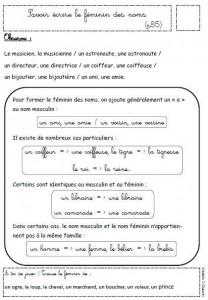 Féminin des noms - cours dans Orthographe feminin-des-noms-208x300