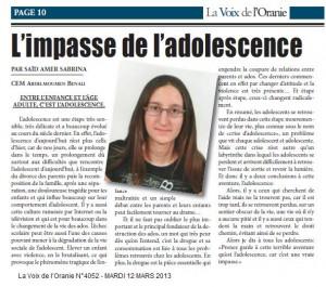 PAR SAÏD AMER SABRINA CEM ABDELMOUMEN BENALI ENTRE L'ENFANCE ET L'ÂGE ADULTE, C'EST L'ADOLESCENCE. dans La Voix des élèves said-amer-sabrina-300x265